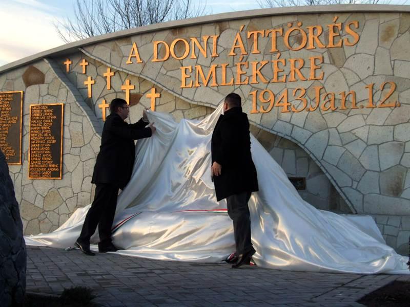 Emlékmű avatás és megemlékezés a Doni áttörés tiszteletére